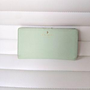 Kate Spade mint green Long wallet